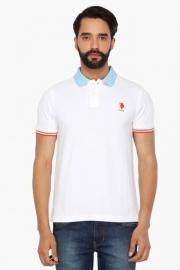U.s. Polo Mens Short Sleeves Solid Polo T-shirt