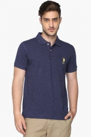 U.s. Polo Mens Regular Fit Slub Polo T-shirt