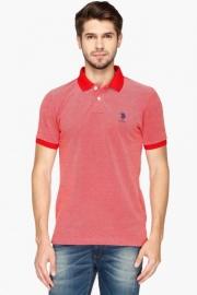 U.s. Polo Mens Regular Fit Slub Polo T-shirt
