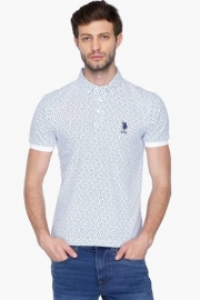 U.s. Polo Mens Regular Fit Printed Polo T-shirt