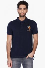U.s. Polo Mens Short Sleeves Slim Fit Solid Polo T-shirt