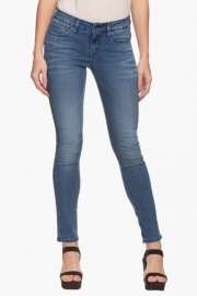 Levis Womens 5 Pocket Mild Wash Whiskered Jeans