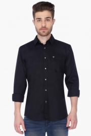 Mens Full Sleeves Casual Solid Shirt
