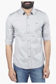 Mens Full Sleeves Casual Slub Shirt