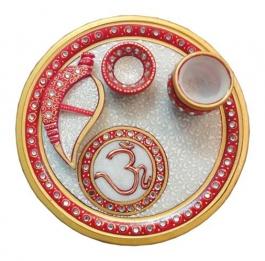 Poojan / Aarti / Shagun Thali-iii (marble)