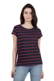Levis Womens Striped Round Neck T-shirt