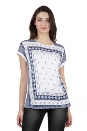 Levis Womens Round Neck Printed Top