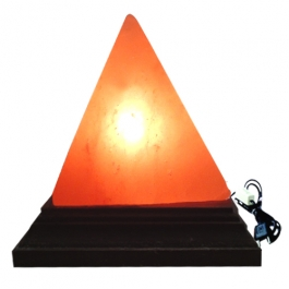 Pyramid Rock Salt Lamp