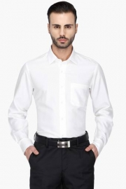 Van Heusen Mens Full Sleeves Formal Solid Shirt
