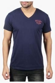 Mens Short Sleeves V Neck Solid T-shirt