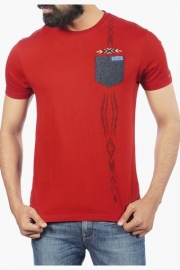 Mens Short Sleeves Round Neck Printed T-shirt