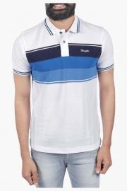 Mens Short Sleeves Stripe Polo T-shirt