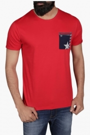 Mens Regular Fit Round Neck Solid T-shirt