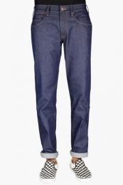 Mens Regular Fit 5 Pocket Rinse Wash Jeans (greensboro Fit)