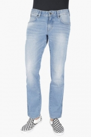 Mens Regular Fit 5 Pocket Mild Wash Jeans (rockville Fit)