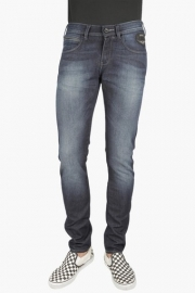 Mens Skinny Fit 5 Pocket Heavy Wash Jeans (vegas Fit)
