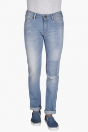 Mens Slim Fit 5 Pocket Mild Wash Jeans (skanders Fit)