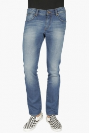 Mens Slim Fit 5 Pocket Heavy Wash Jeans (skanders Fit)