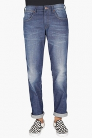 Mens Regular Fit 5 Pocket Heavy Wash Jeans (greensboro Fit)