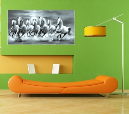 Decorative Paintings For Drawing Room Wall Stickers Size 58x30 Inches Eco + Vinyl + Pvc + Glosy Lemination