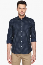 Van Heusen Mens Printed Regular Collar Shirt