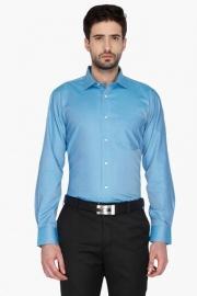 Van Heusen Mens Full Sleeves Formal Slub Shirt
