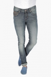 Mens Skinny Fit 5 Pocket Heavy Wash Jeans (vegas Fit)