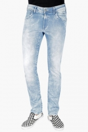 Mens Skinny Fit 5 Pocket Stone Wash Jeans (vegas Fit)