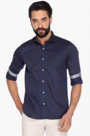 Van Heusen Mens Full Sleeves Casual Printed Shirt