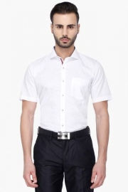 Van Heusen Mens Half Sleeves Formal Solid Shirt