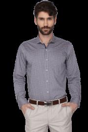 Mens Full Sleeves Slim Fit Check Formal Shirt