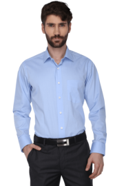Mens Full Sleeves Slim Fit Solid Formal Shirt