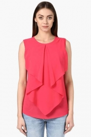 Park Avenue Womens Round Neck Solid Top