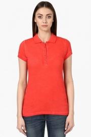 Park Avenue Womens Slub Polo T-shirt