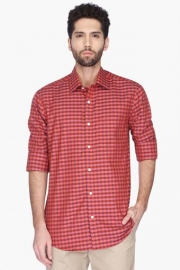 Mens Check Regular Collar Shirt