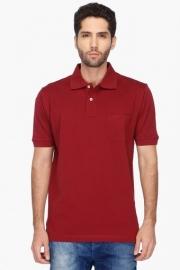 Mens Short Sleeves Slim Fit Solid Polo T-shirt