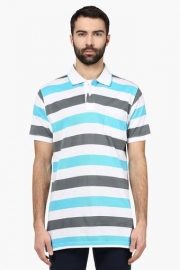 Mens Tailored Fit Stripe Polo T-shirt