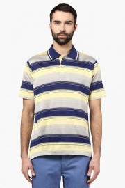 Mens Regular Fit Stripe Polo T-shirt