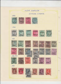 India Gwalior Official Stamps-39 Different