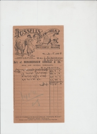 Fusselis Advertaisment Buterflay Brand ( Milk & Cream ) Date 7-8-1918