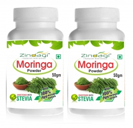 Zindagi Pure Moringa Powder-100% Natural Health Supplement-natural Minerals, Vitamins & Calcium (pack Of 2)