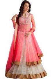Anarkali Pink Salwar Suit