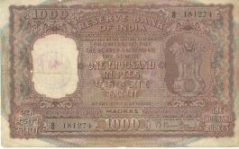 1000 Rs Rama Raus Notes Madras