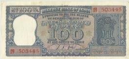 100 Rs L K Jha G -25 Unc Note
