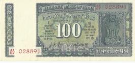 100 Lk Jha Ghandhi Unc Note
