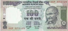 G-56 Dr Y V Reddy 100 Rs Unc Notes