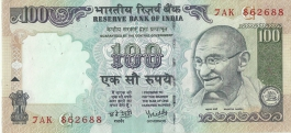G-58 Dr Y V Reddy 100 Rs Unc Notes