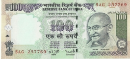 G-63 Dr Y V Reddy 100 Rs Unc Notes