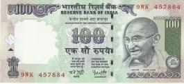 G-73 Dr Y V Reddy 100 Rs Unc Notes
