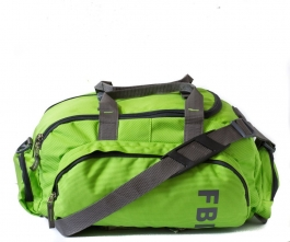 Fbi Polyester Green Softsided Travel Duffle Bag